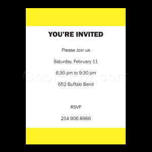 Yellow - Custom Invitations
