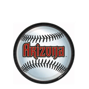 Arizona Diamondbacks 9 Inch plates- 18ct
