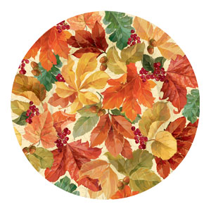 Elegant Leaves 10 Inch Plates