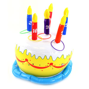 Birthday Cake Ring Toss Game