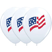 American Flag Latex Balloons - 12 Inch 25 Count