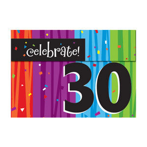 Celebrate 30 Gatefold Invitation - 8ct