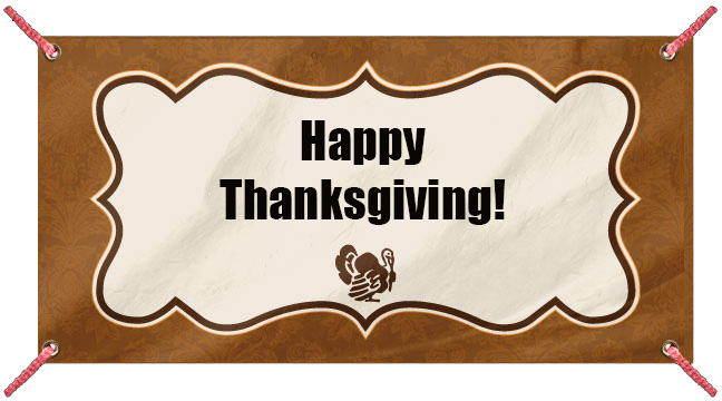 Thanksgiving Dinner - Custom Banner