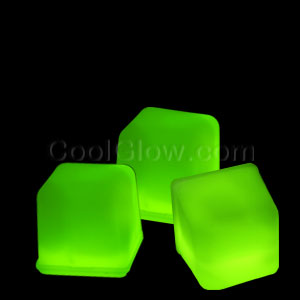 Glowing Ice Cubes - Green