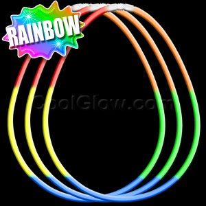 22 Inch Glow Necklaces - Rainbow