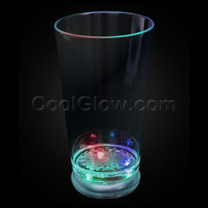 LED Flashing Pint Glass - Multicolor