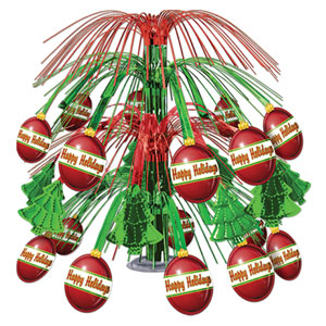 Christmas Ornament Cascade Centerpiece - 18in