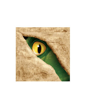 Dino Blast Beverage Napkins- 16ct