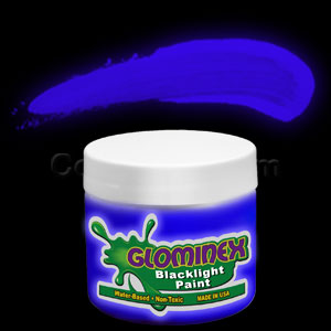 Glominex™ Blacklight UV Reactive Paint 2 oz Jar - Blue