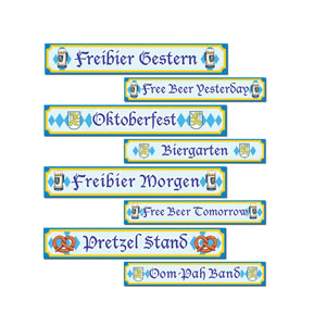 Oktoberfest Sign Cutouts - 4ct