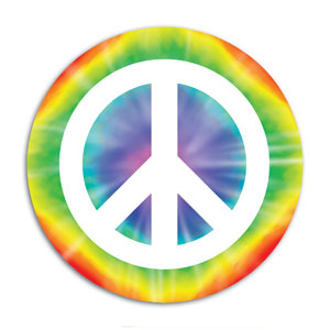Peace Sign Cutout - 13 12in