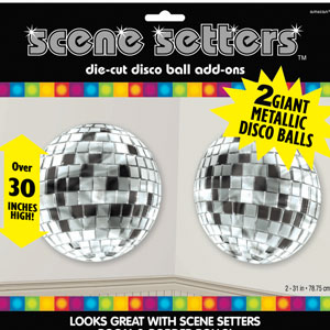 Disco Balls Metallic Scene Setters- 2ct