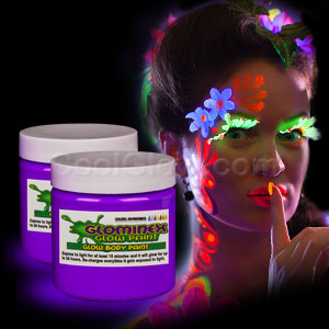 Glow Body Paint 4 oz Jar - Purple