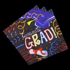 Grad Diploma Luncheon Napkins- 16ct