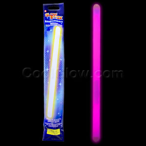 Fun Central O023 14 Inch Glow in the Dark Sticks - Pink