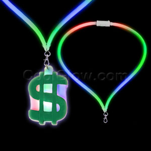 LED Flashing Lanyard - Dollar Sign