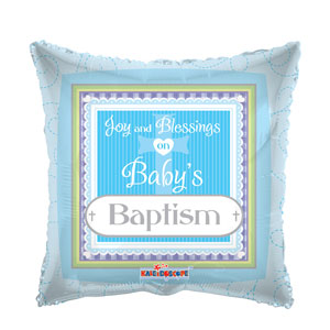 Baby's Baptism Blue Balloon- 18in