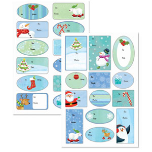 Frosty Friends Adhesive Gift Tags- 100ct
