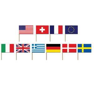 International Flag Picks- 50ct