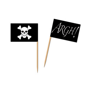 Pirate Flag Picks - 50ct