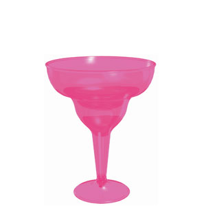 Pink Margarita Glass 8 oz.- 20ct
