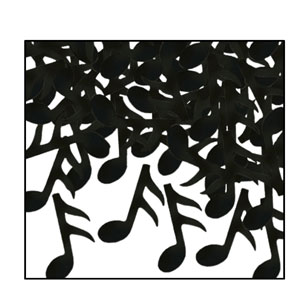 Black Musical Notes Confetti - 1oz