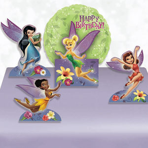 Disney Tinkerbell Happy Birthday Centerpiece- 5pc