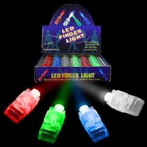 Fun Central I437 LED Light Up Finger Lights - Assorted 36ct