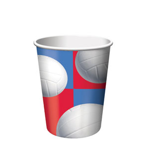 Volleyball 9 oz. Cups