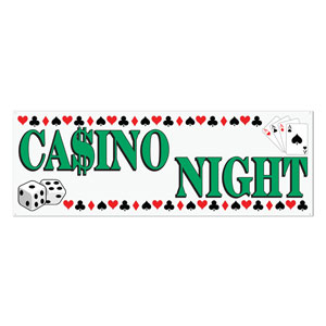Casino Night Sign Banner- 5ft