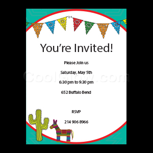 Fiesta Party - Custom Invitations