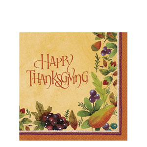 Thanksgiving Medley Paper Table Cover- 102 Inch