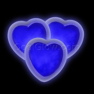 Glow Badge Heart - Blue