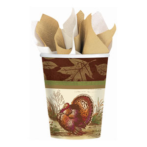 Thanksgiving Sophistication 9 oz. Cups- 8ct