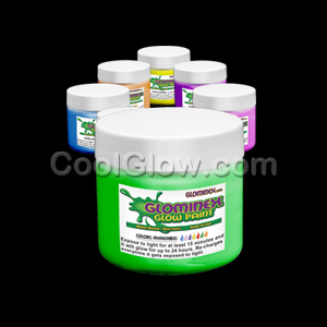 Glominex Glow Paint 4 oz Jars - Assorted