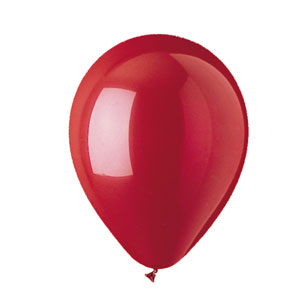 12 Inch Cherry Red Latex Balloons - 15ct