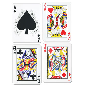 Playing Cards Cutouts- 4pc