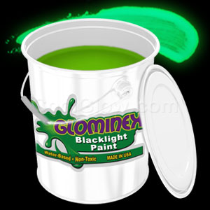 Glominex Blacklight UV Reactive Paint Gallon - Green