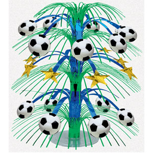 Soccer Cascade Centerpiece- 18in