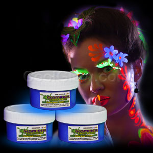 Glominex Glow Body Paint 2oz Jar - Blue