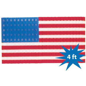 USA Flag Honeycomb Door Drop - 4ft x 2.25ft