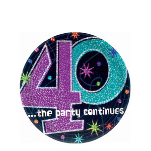 The Party Continues-40 7 Inch Prismatic Plates- 8ct