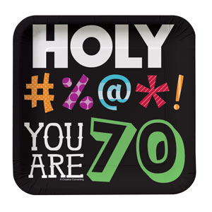 Holy Bleep You're 70 Luncheon Plates - 8ct