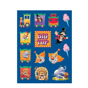 Big Top Birthday Value Stickers- 4ct