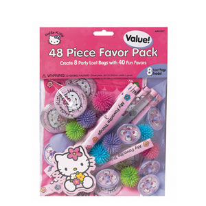 Hello Kitty Favor Pack- 48pc