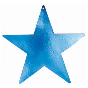 Blue 15 Inch Star Cutouts- 5ct
