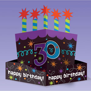 The Party Continues-30 Die-Cut Centerpiece- 10in