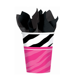 Zebra Party 9 oz. Cups- 8ct