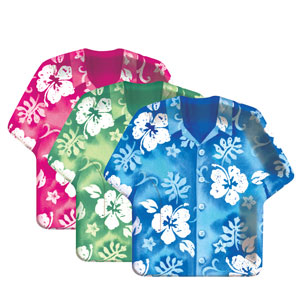 Bahama Shirt 11 Inch Assorted Plates - 8ct