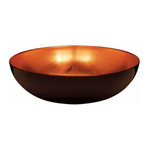 Elegant Fall Bowl- Orange 11 Inch
